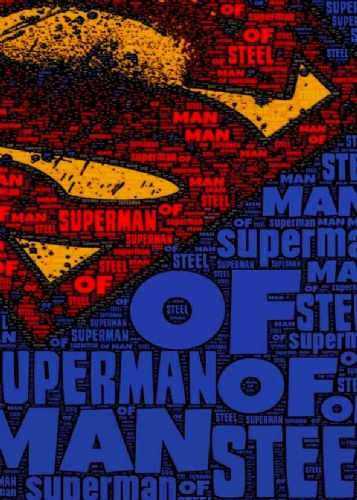 2010's Movie - MAN OF STEEL - SUPERMAN LOGO canvas print - self adhesive poster - photo print